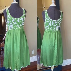 Velvet Green Patterned Sundress Size M